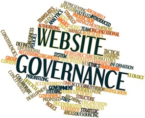 Word cloud for Website governance