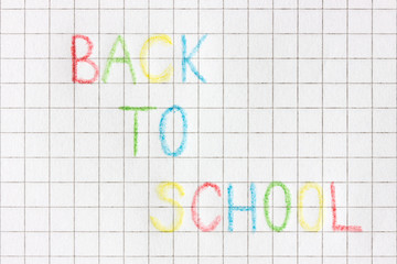 "Paper sheet  with text. ""Back to school"""