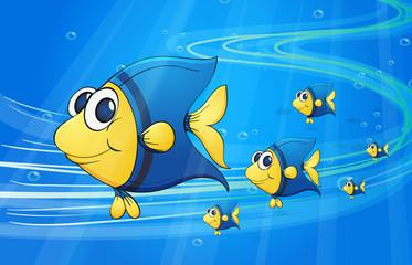Wall Murals Submarine under water fish