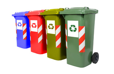 Colored waste bin
