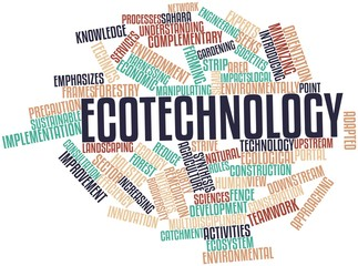 Word cloud for Ecotechnology