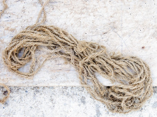 Old hemp rope