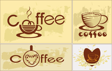 Coffee , logotype , menu .