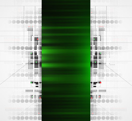 Abstract green high technology dynamic fade banner background