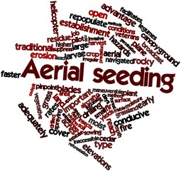 Word cloud for Aerial seeding