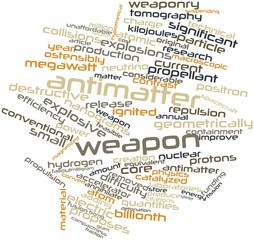 Word cloud for Antimatter weapon