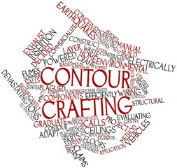 Word cloud for Contour crafting