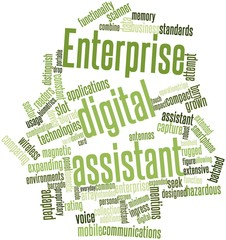 Word cloud for Enterprise digital assistant