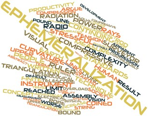 Word cloud for Ephemeralization