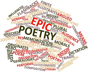 Word cloud for Epic poetry