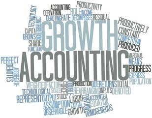 Word cloud for Growth accounting
