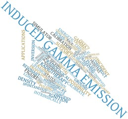 Word cloud for Induced gamma emission