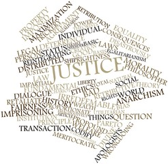 Word cloud for Justice