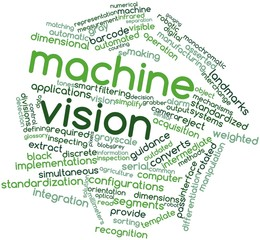 Word cloud for Machine vision
