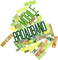 Word cloud for Mobile broadband