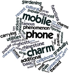 Word cloud for Mobile phone charm