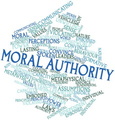 Word cloud for Moral authority