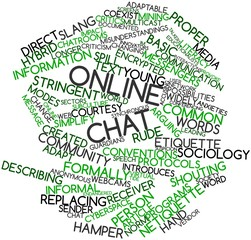 Word cloud for Online chat