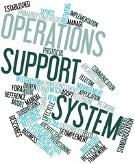 Word cloud for Operations support system