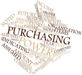 Word cloud for Purchasing power