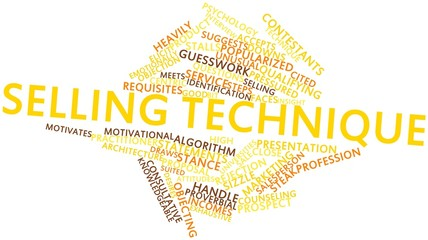 Word cloud for Selling technique
