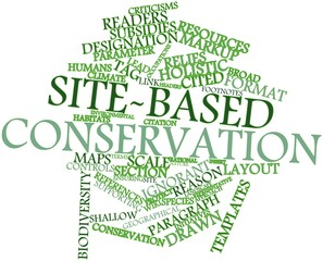 Word cloud for Site-based conservation