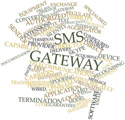 Word cloud for SMS gateway