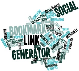 Word cloud for Social bookmark link generator