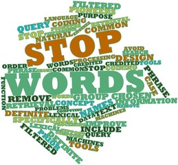 Word cloud for Stop words
