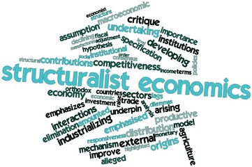 Word cloud for Structuralist economics