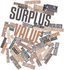 Word cloud for Surplus value