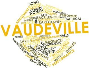 Word cloud for Vaudeville
