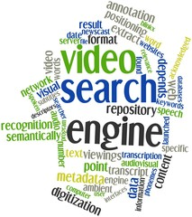 Word cloud for Video search engine