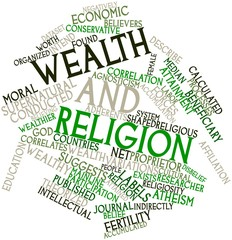 Word cloud for Wealth and religion