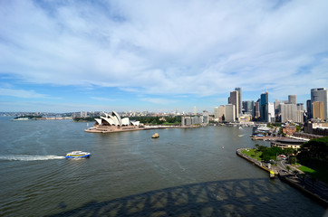 sydney, harbour panorama daytime