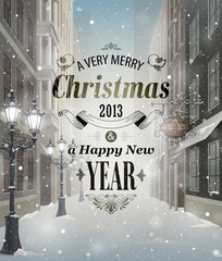 Wall Mural - Christmas greeting card