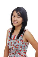 Girl wearing cute dress