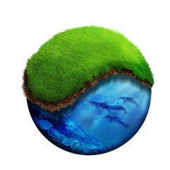 Obraz eco earth2 - fototapety do salonu
