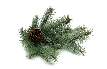 Christmas tree with pinecone