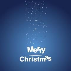 Merry Christmas blue star art design vector