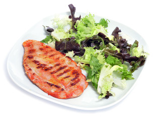 grilled chicken and green salad