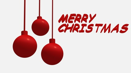 Merry Christmas Balls Decoration