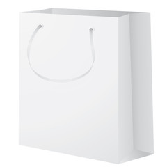 white color empty shopping bag