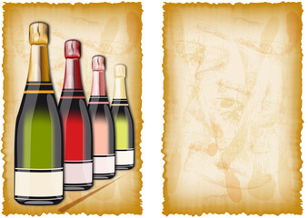 Getränkekarte im antiken Stil