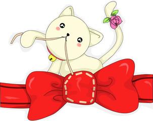 cat sew ribbon
