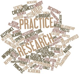 Word cloud for Practice research