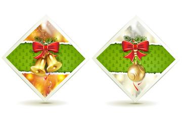 Christmas bells and ball