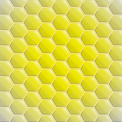 center gold yellow alighted honeycomb vector background
