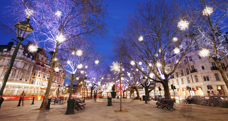Christmas Lights Display in London Fotomurales