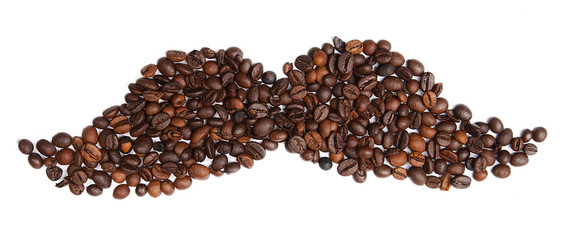 Coffee beans in the form of whiskers
